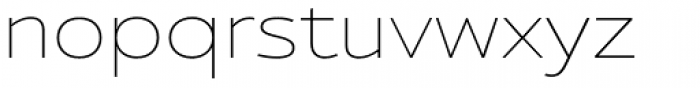 Ultine Ext Thin Font LOWERCASE