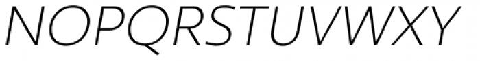 Ultine Norm Light Italic Font UPPERCASE