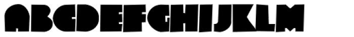 Ultra Fat Drawn Font UPPERCASE