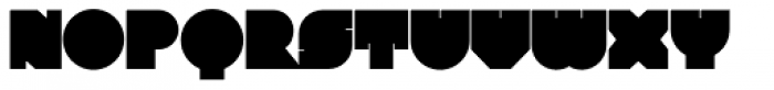 Ultra Fat Print Font UPPERCASE