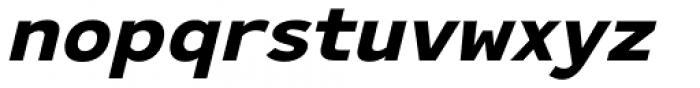 Ultraproxi Bold Italic Font LOWERCASE
