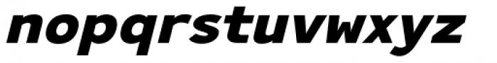 Ultraproxi Heavy Italic Font LOWERCASE