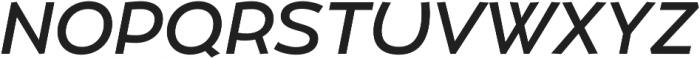 Umba Sans Medium Italic otf (500) Font UPPERCASE