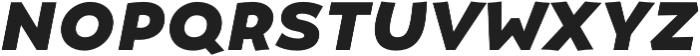 Umba Sans SC Bold Italic otf (700) Font LOWERCASE