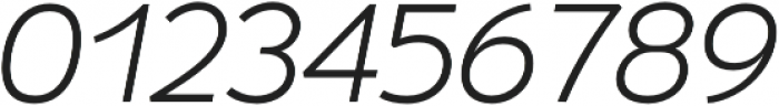Umba Sans SC Light Italic otf (300) Font OTHER CHARS