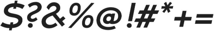 Umba Sans SC Medium Italic otf (500) Font OTHER CHARS