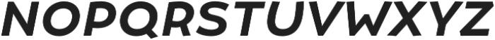 Umba Sans SC Medium Italic otf (500) Font LOWERCASE