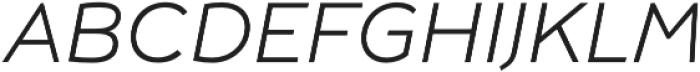 Umba Sans SC Thin Italic otf (100) Font LOWERCASE