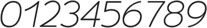 Umba Sans Thin Italic otf (100) Font OTHER CHARS
