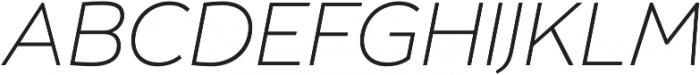 Umba Sans Thin Italic otf (100) Font UPPERCASE