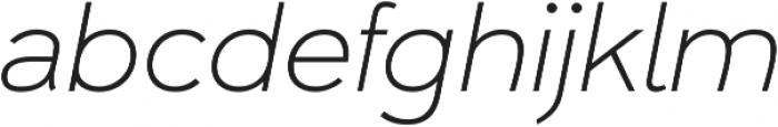 Umba Sans Thin Italic otf (100) Font LOWERCASE