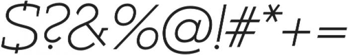 Umba Slab Alt Thin Italic otf (100) Font OTHER CHARS