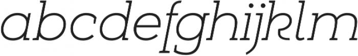 Umba Slab Alt Thin Italic otf (100) Font LOWERCASE
