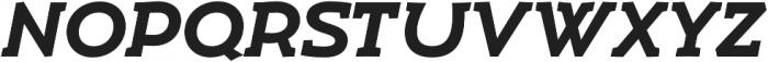 Umba Slab Caps Bold Italic otf (700) Font UPPERCASE
