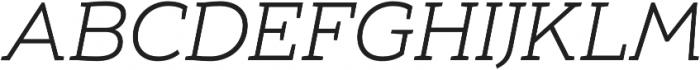 Umba Slab Caps Light Italic otf (300) Font UPPERCASE