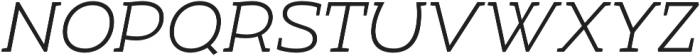 Umba Slab Caps Light Italic otf (300) Font LOWERCASE