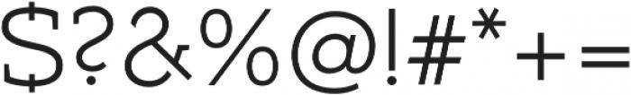 Umba Slab Caps Light otf (300) Font OTHER CHARS