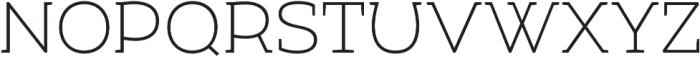 Umba Slab Caps Thin otf (100) Font UPPERCASE