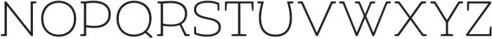 Umba Slab Caps Thin otf (100) Font LOWERCASE