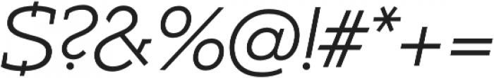 Umba Slab Light Italic otf (300) Font OTHER CHARS