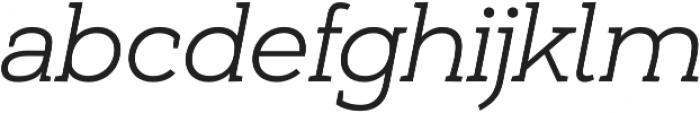 Umba Slab Light Italic otf (300) Font LOWERCASE