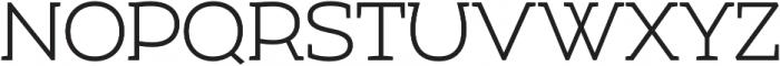Umba Slab Light otf (300) Font UPPERCASE