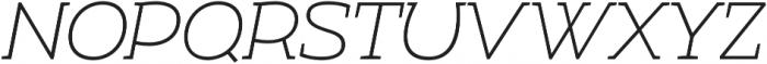 Umba Slab Thin Italic otf (100) Font UPPERCASE