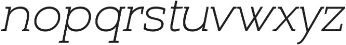 Umba Slab Thin Italic otf (100) Font LOWERCASE