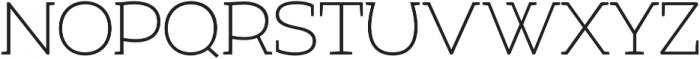 Umba Slab Thin otf (100) Font UPPERCASE