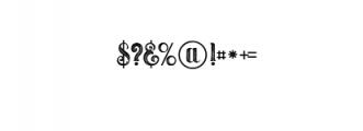 Umbrella - 4 Display Fonts Font OTHER CHARS