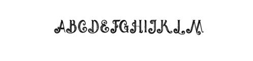 Umbrella - 4 Display Fonts Font UPPERCASE