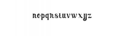 Umbrella - 4 Display Fonts Font LOWERCASE
