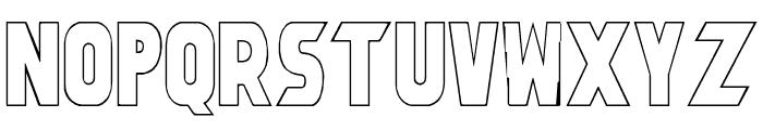 Umbro Outline Font UPPERCASE