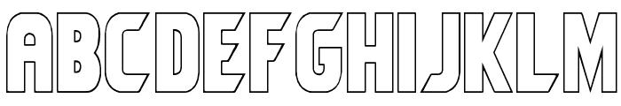 Umbro Outline Font LOWERCASE