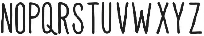UNION-HAND Regular otf (400) Font LOWERCASE