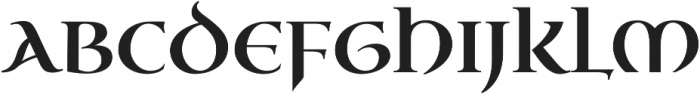 Uncial Antiqua Pro Regular otf (400) Font UPPERCASE