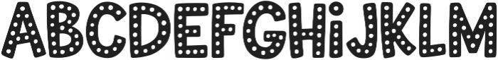 Uncle Grump Dotty otf (400) Font LOWERCASE