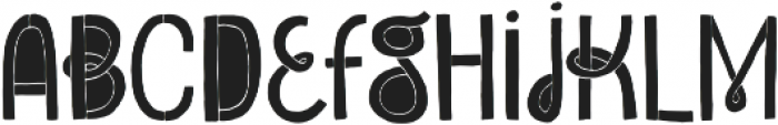 Undersong Filled otf (400) Font LOWERCASE