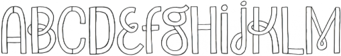 Undersong otf (400) Font LOWERCASE