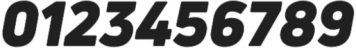Uni Neue Black italic otf (900) Font OTHER CHARS