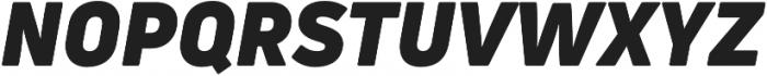 Uni Neue Black italic otf (900) Font UPPERCASE
