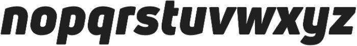 Uni Neue Black italic otf (900) Font LOWERCASE