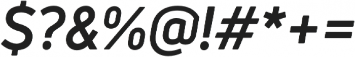 Uni Neue Bold Italic otf (700) Font OTHER CHARS
