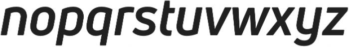 Uni Neue Bold Italic otf (700) Font LOWERCASE
