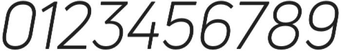 Uni Neue Book Italic otf (400) Font OTHER CHARS