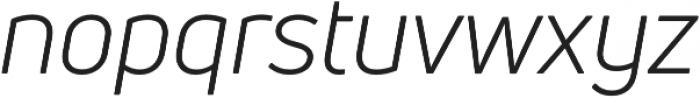 Uni Neue Book Italic otf (400) Font LOWERCASE