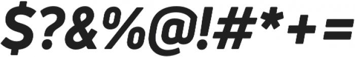 Uni Neue Heavy Italic otf (800) Font OTHER CHARS