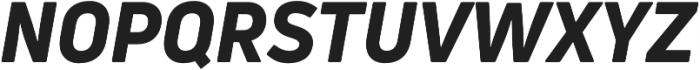Uni Neue Heavy Italic otf (800) Font UPPERCASE