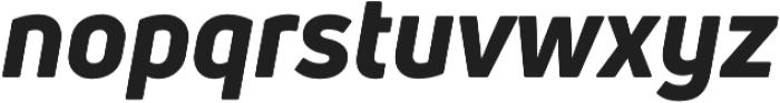 Uni Neue Heavy Italic otf (800) Font LOWERCASE