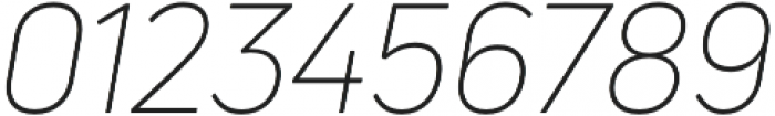 Uni Neue Light Italic otf (300) Font OTHER CHARS